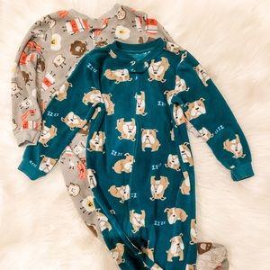Carters Footed Fleece Pajamas